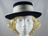 C&amp;A Navy and Cream Occasion Hat